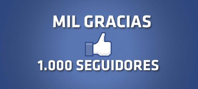 Mil gracias, mil seguidores